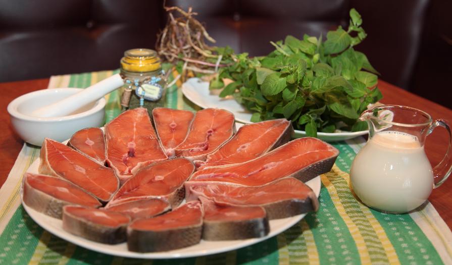 Рецепт Горбуша в сливочно-чесночном соусе