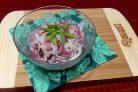 Салат из дайкона с колбасой