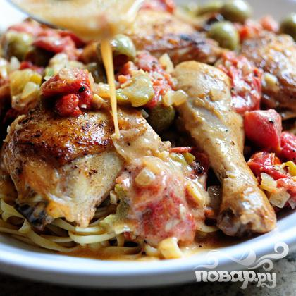 Курица с оливками - фото шаг 22