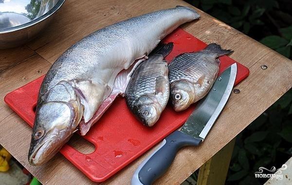 Уха рыбацкая - фото шаг 1