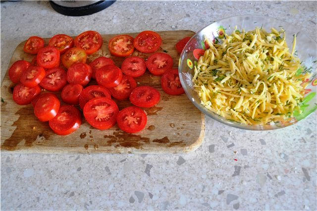 Рецепт Итальянские булочки с сыром и томатами