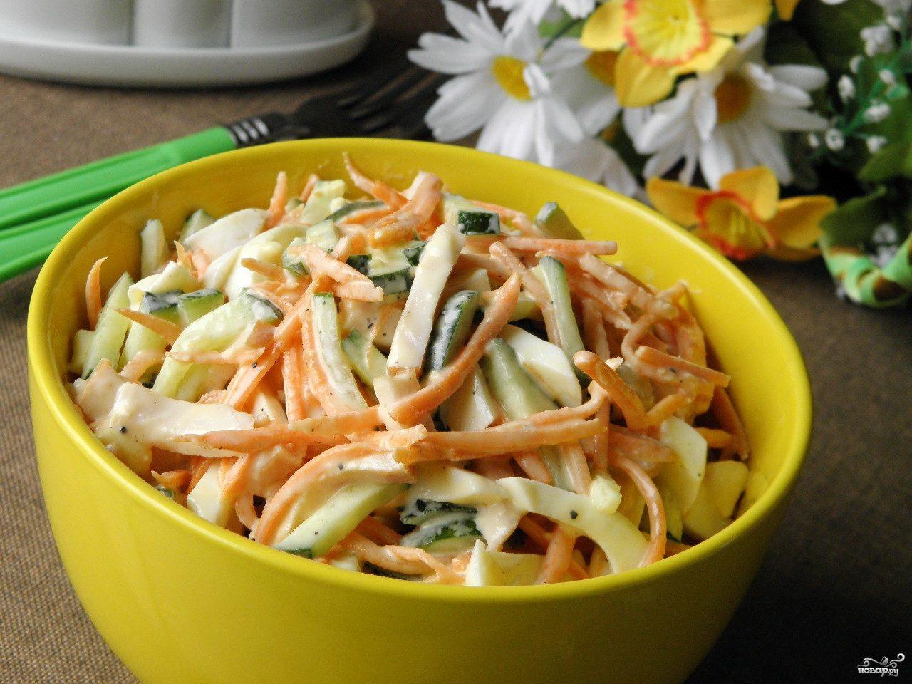 рецепт салат курица свежий огурец с фото