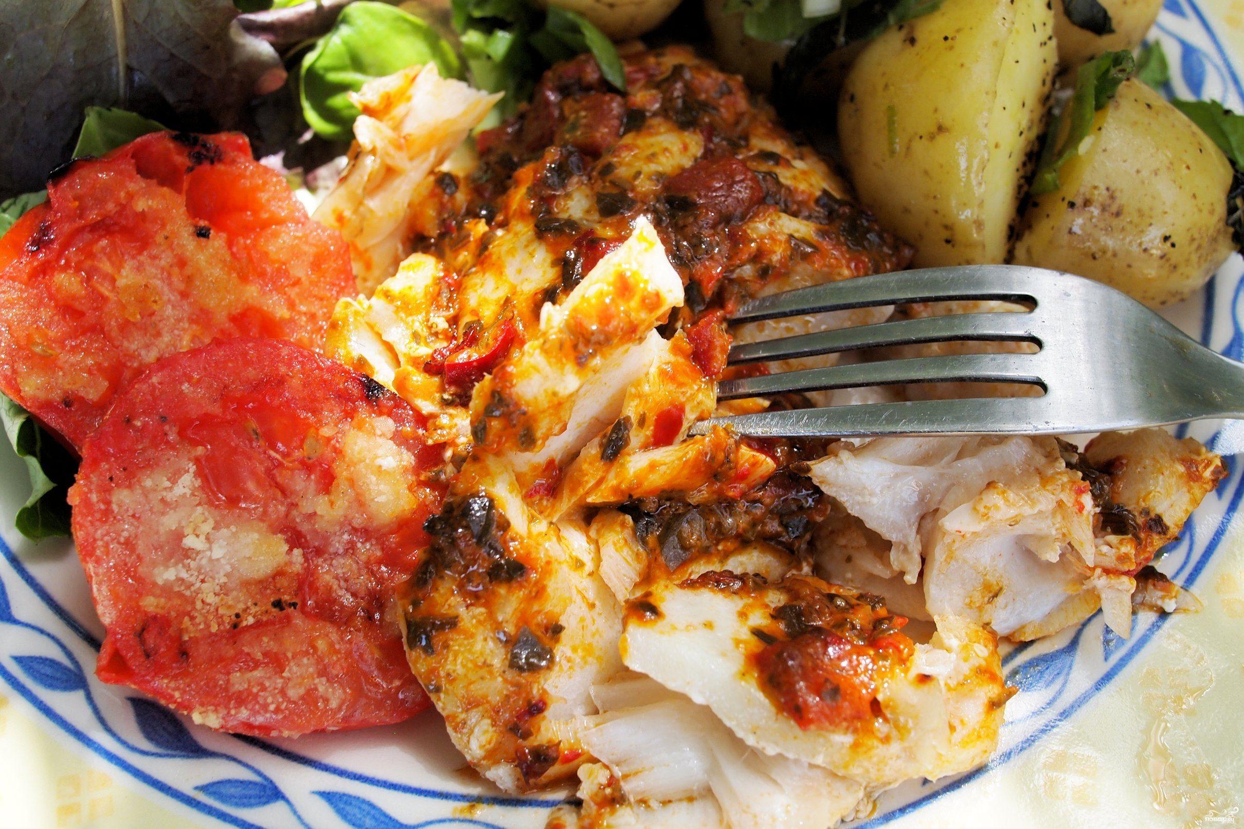 Рецепт Рыба с картофелем в духовке