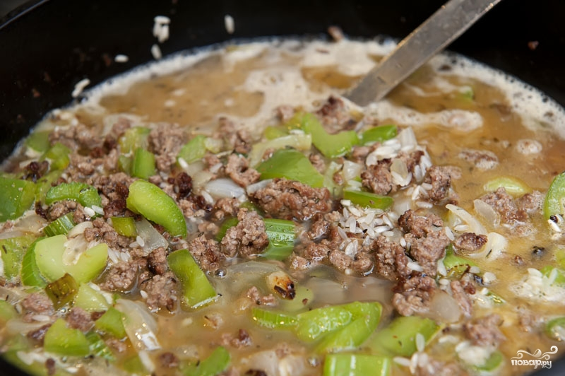 Рис с овощами и фаршем рецепт пошагово