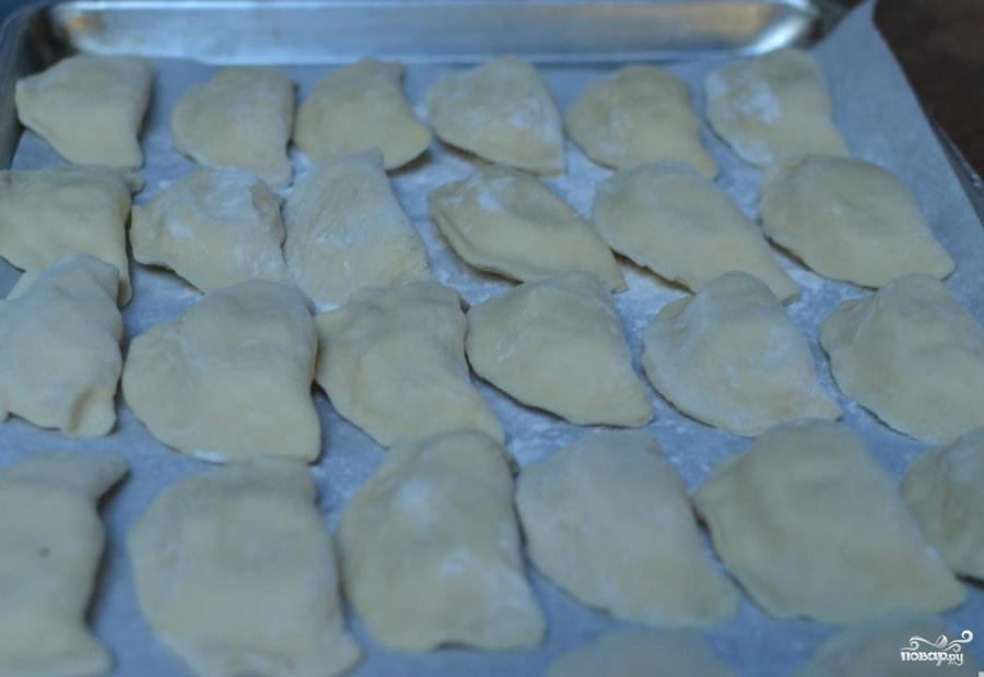 Жареные вареники с картошкой - фото шаг 10