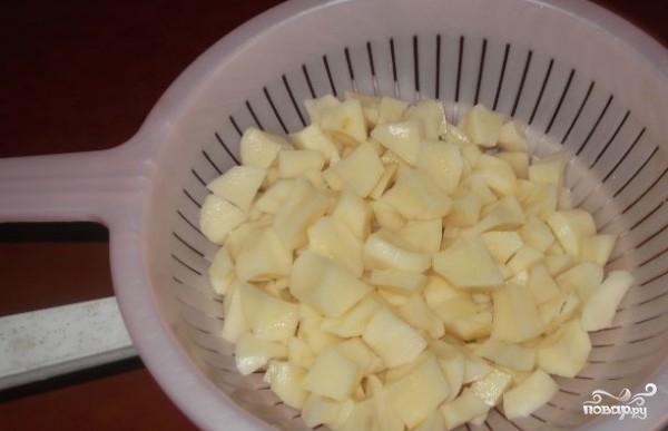 Творожный пирог с сайрой - фото шаг 2