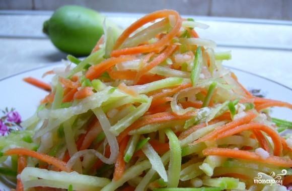рецепт салата с редькой маргеланской и морковью