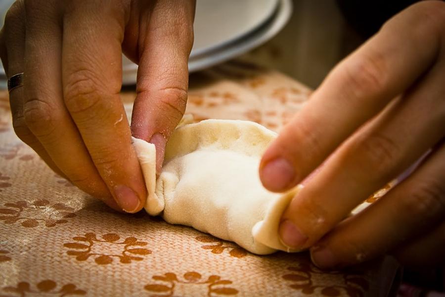 Манты с тыквой и мясом по-узбекски - фото шаг 7