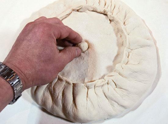 Курник с фаршем и картошкой - фото шаг 9