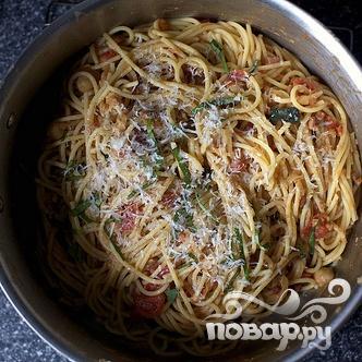 Спагетти с бараньим горохом - фото шаг 4