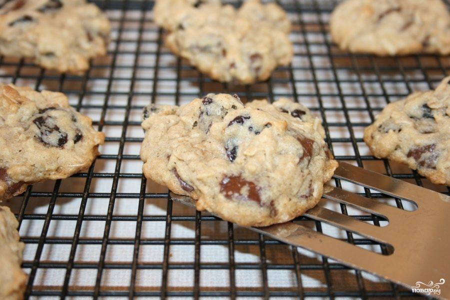 Рецепт Овсяное печенье с вишней и медом