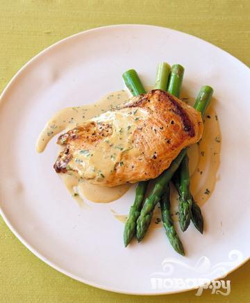 Рецепт Жареная курица в кремовом соусе с горчицей