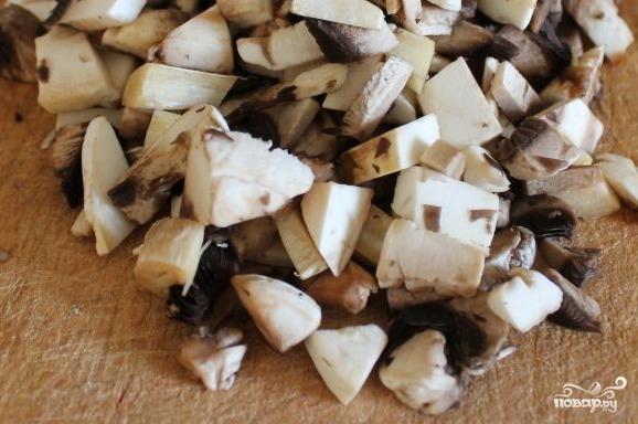 Куриные рулетики с грибами и сыром - фото шаг 2