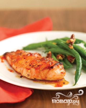 Рецепт Пряная курица в абрикосовой глазури.