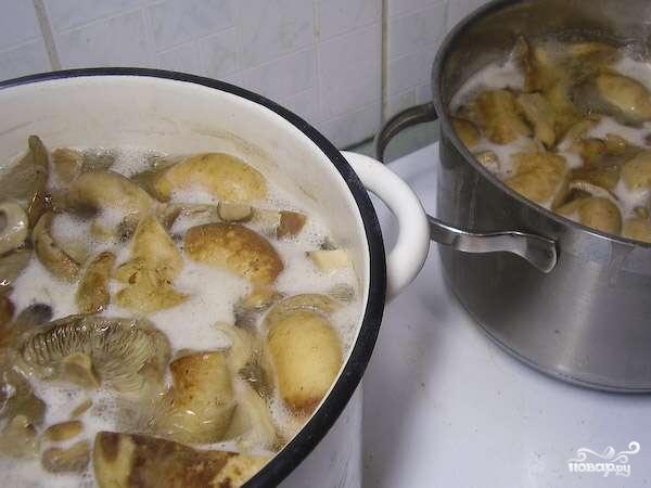 Соленые грибы со сметаной - фото шаг 1