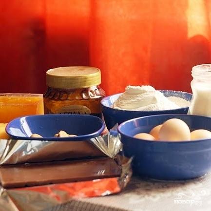 Рецепт Кекс с бразильским орехом, вареньем и шоколадом