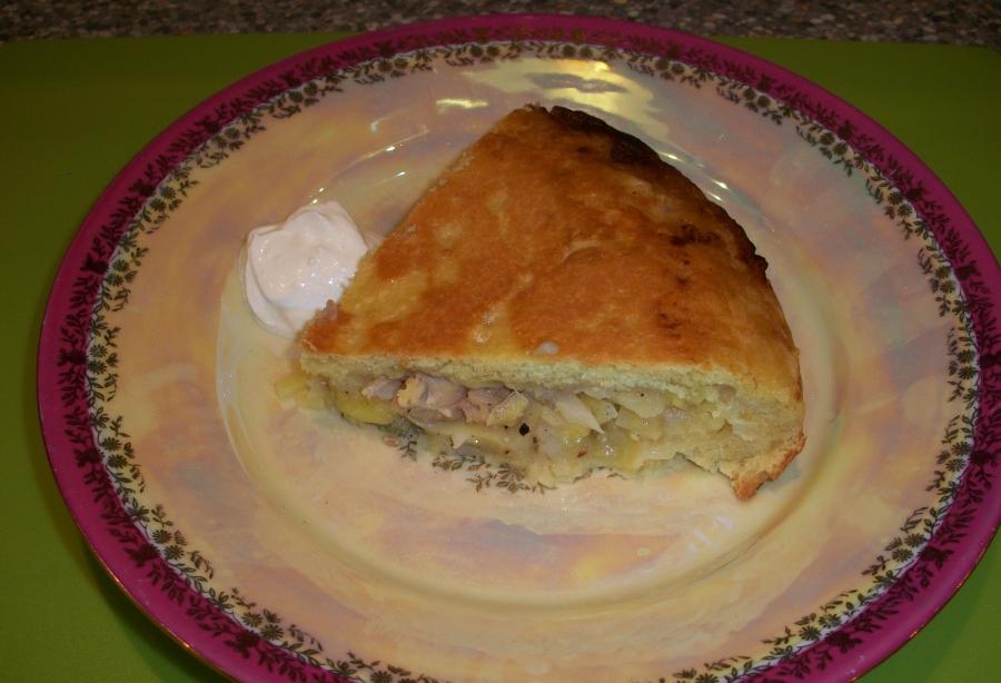 Пирог на сковороде - фото шаг 6