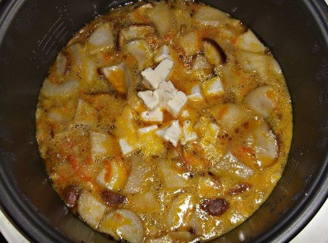 Суп из свежих белых грибов в мультиварке - фото шаг 10