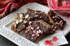 Шоколадные пирожные с миндалем