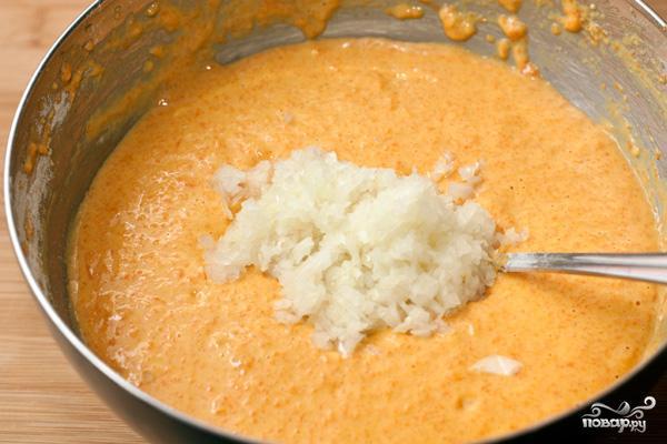 Оладьи из тыквы с сыром - фото шаг 4