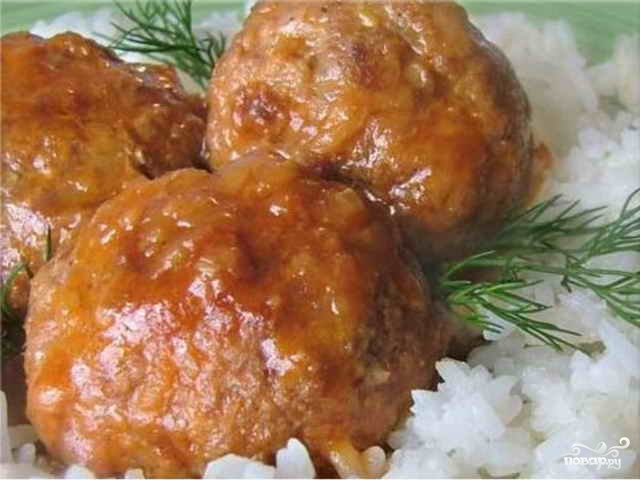 Рецепт Тефтели с рисом