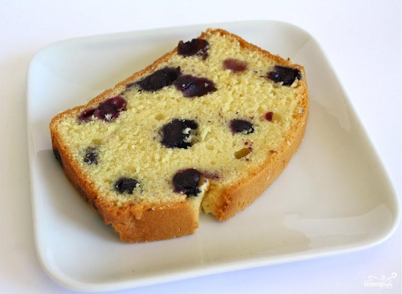 Рецепт Творожный кекс с голубикой