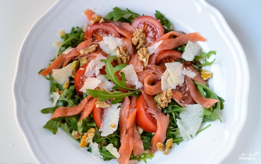 Салат с рукколой и лососем - фото шаг 4