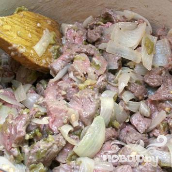 Суп с говядиной и зелёным чили - фото шаг 4