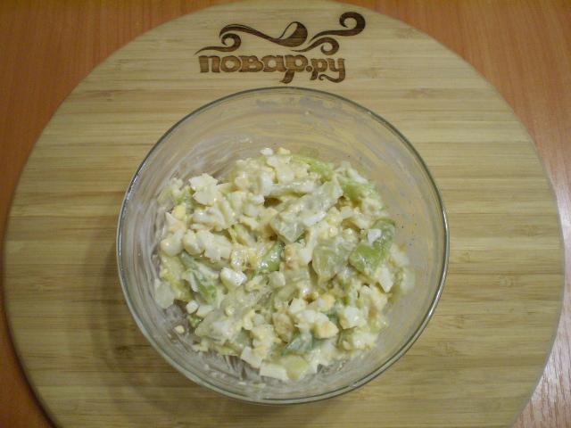 Салат из зеленой фасоли с яйцами - фото шаг 8