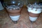 Желе из сметаны и какао