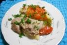 Свинина с помидорами и картофелем в мультиварке