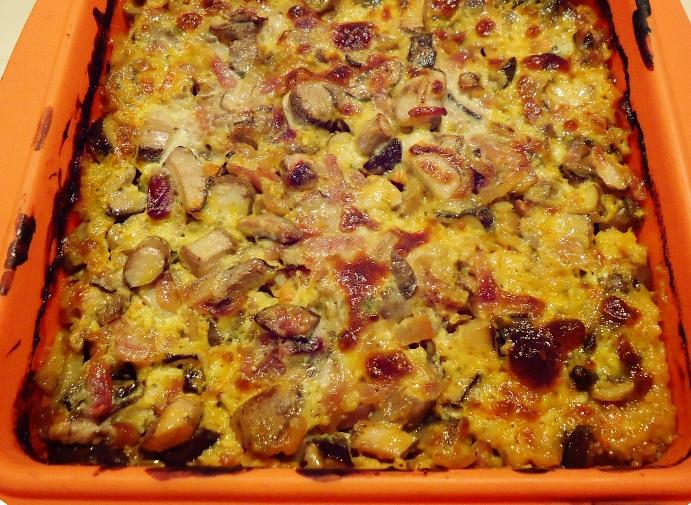 Картофельная запеканка с фаршем и грибами в духовке рецепты с фото