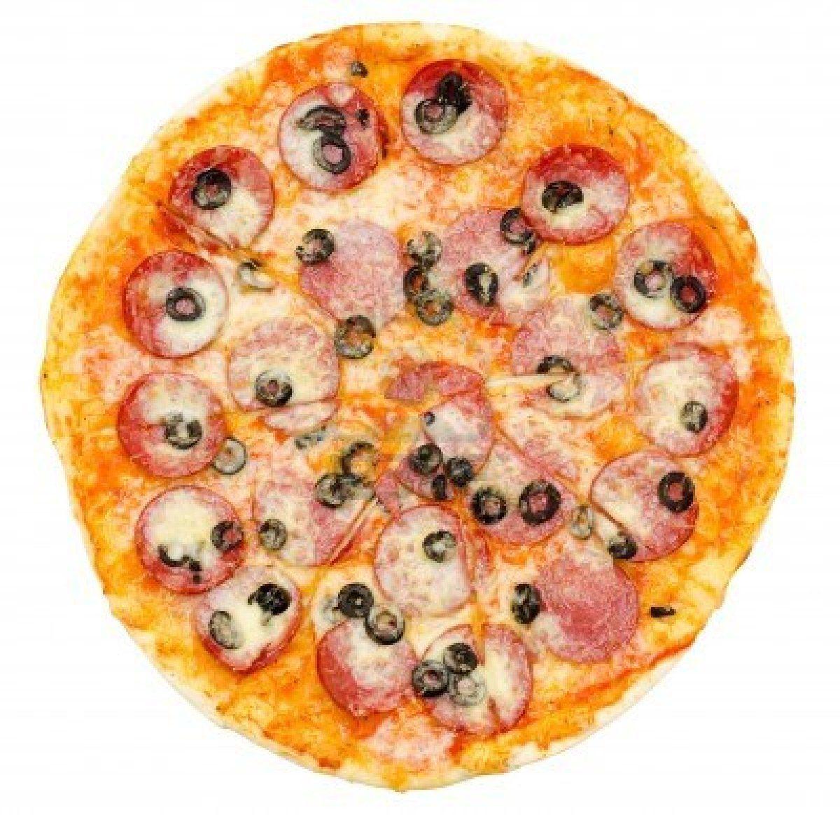 Рецепт Пицца с колбасой в микроволновке