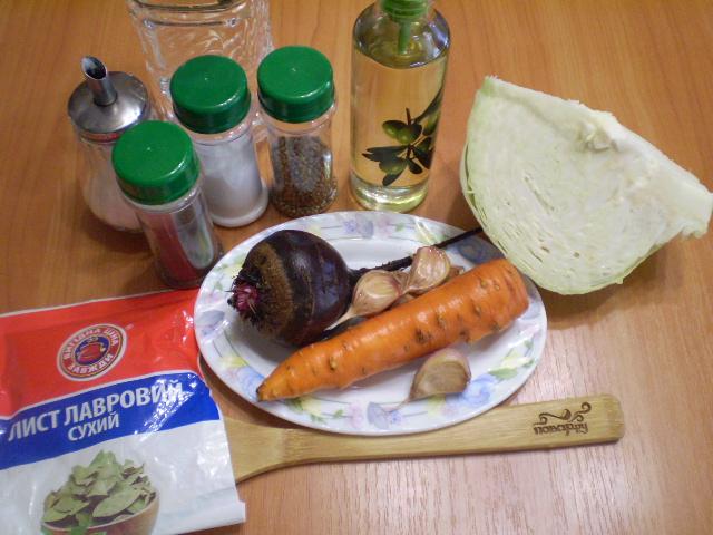 Рецепт Маринованная капуста со свеклой и морковью