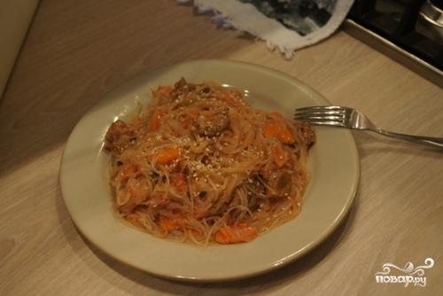 Японская лапша со свининой - фото шаг 6