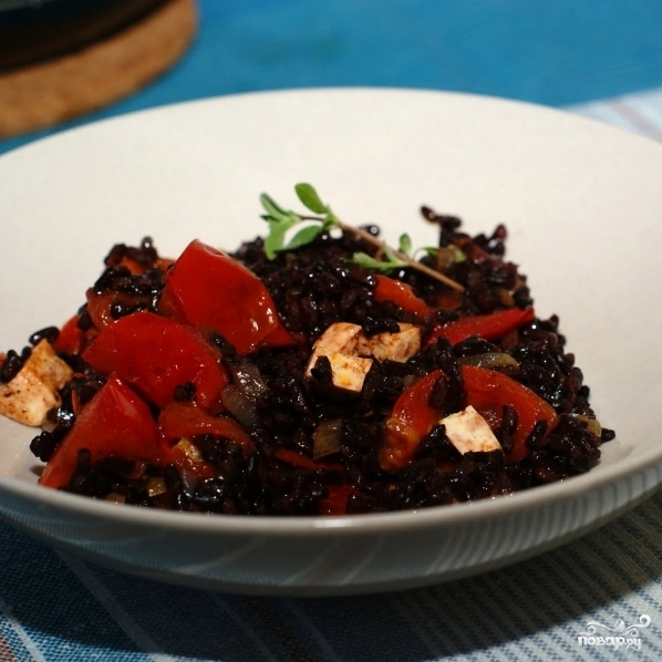 Рецепты из черного риса с фото