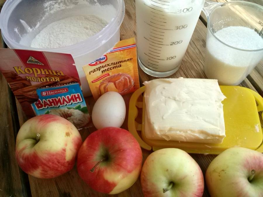Яблочный пирог со сметанной заливкой (очень вкусный) - фото шаг 1