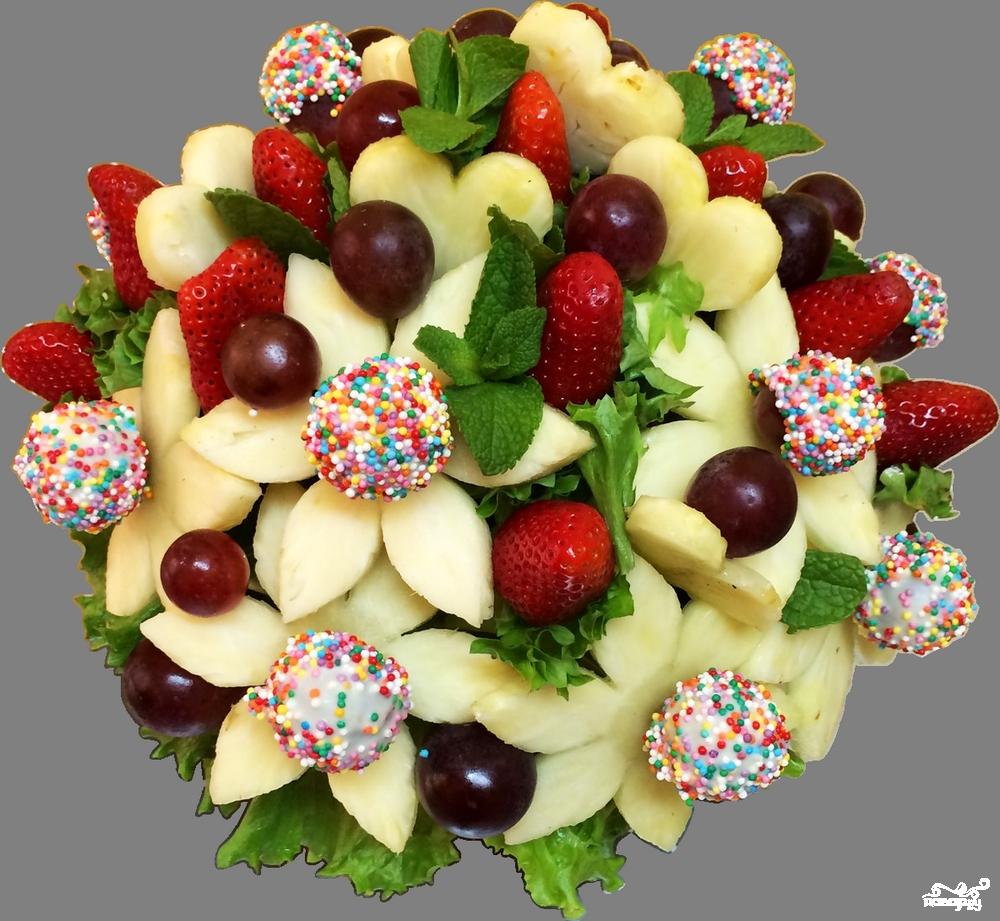 Букеты из фруктов своими руками для начинающих фото 27