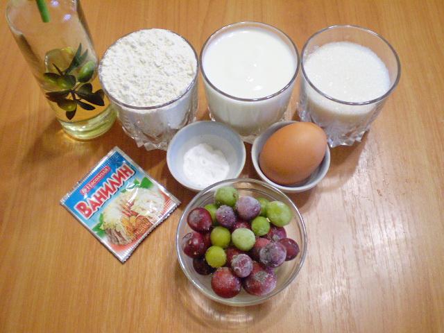 Рецепт Пирог с ягодами на кефире