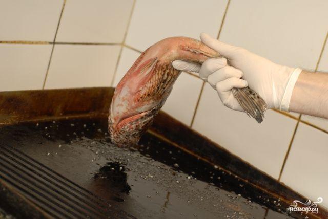 Морской окунь в духовке - фото шаг 3