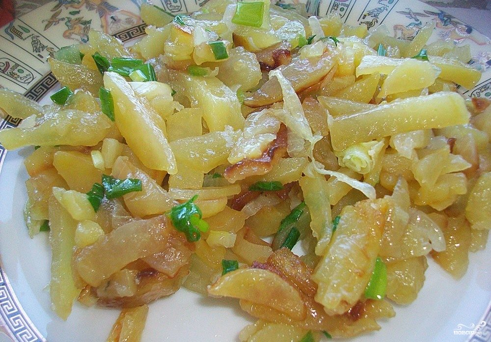 Вкусная картошка на сковороде