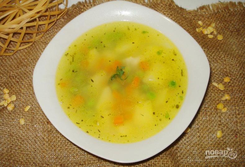 гороховый суп постный калорийность рецепт