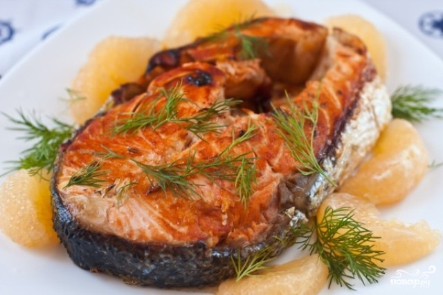 Рецепт Стейк из лосося в мультиварке