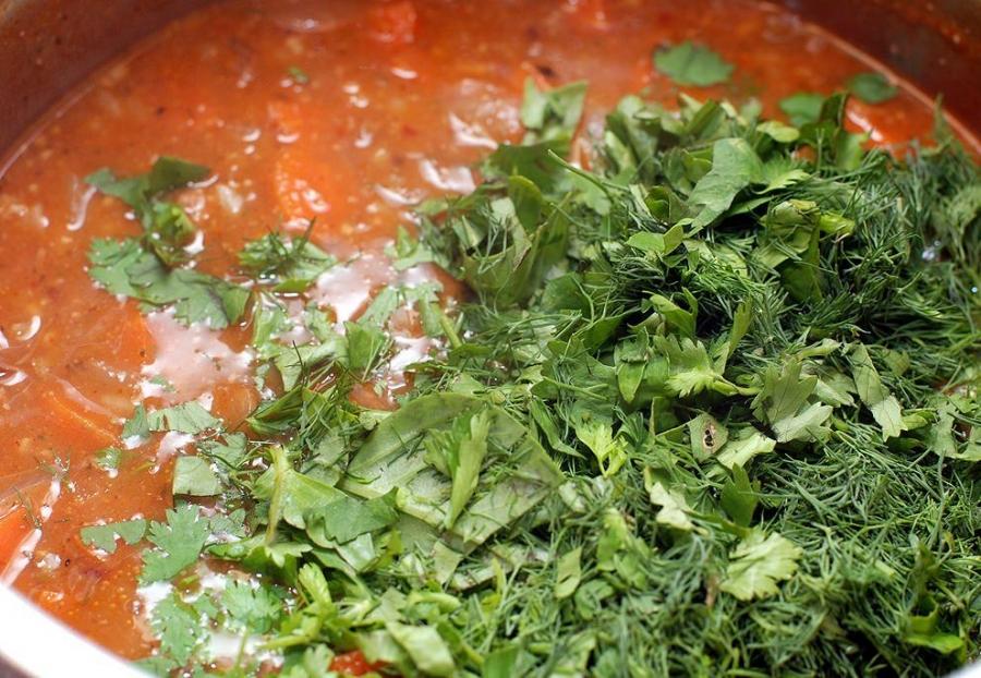 Суп с говядиной и рисом - фото шаг 9