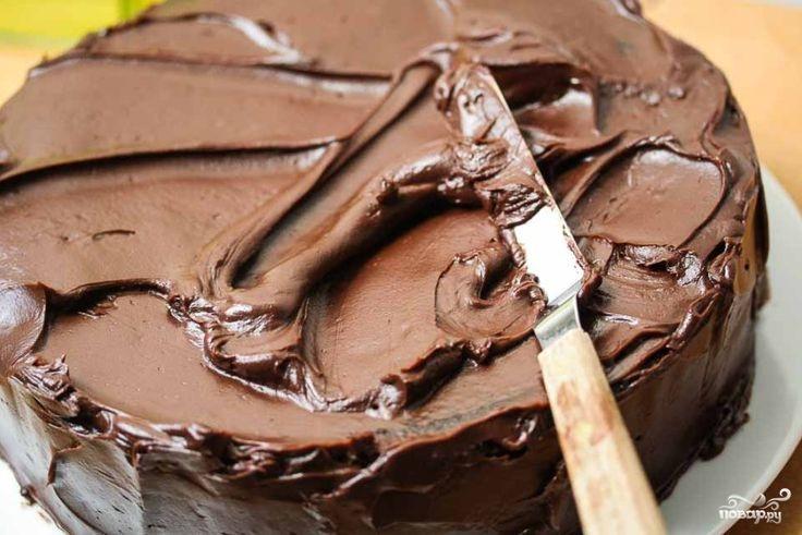 Торт с кусочками бисквита и фруктами - фото шаг 6
