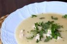 Картофельный суп-пюре с сельдереем и куриными клецками