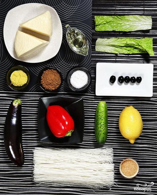 Салат с рисовой лапшой - фото шаг 1