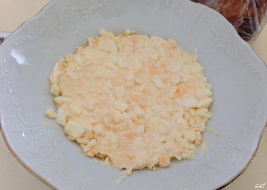 Салат из копчёной грудки и корейской моркови - фото шаг 3