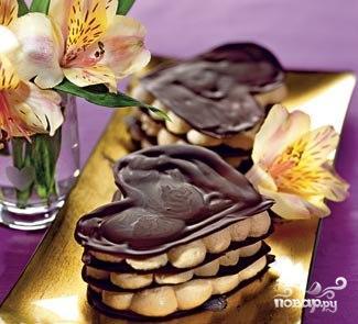 Рецепт Шоколадные сердечки со сливочным муссом