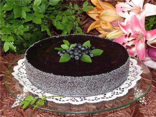 Чернично-маковый торт - фото шаг 4